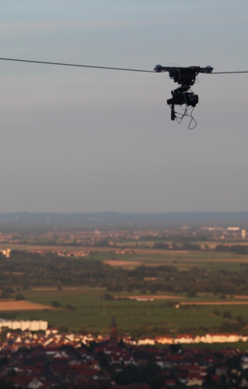 Cable-Cam im Einsatz